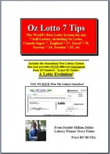 Winning Lotto Numbers Book