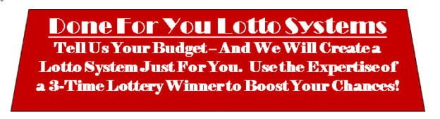 Done For You Lotto Systems